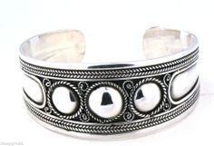 New Authentic Moroccan Silver Bangle Bracelet Cuff Handmade Berber Jewelry
