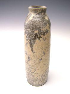 Raku pottery vase ceramic white crackle raku vase by Letsgetmuddy click now for info. Raku Pottery, Slab Pottery, Thrown Pottery, Pottery Wheel, Ceramic Clay, Ceramic Bowls, Raku Kiln, Sculpture Clay, Ceramic Sculptures