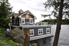Experience #cottagelife at its finest!   Our newest #Muskoka listing offers 3 separate and intimate accommodations, dispersed on 2.5 acres of ruggedly beautiful treed property. Family members can relax on their own and then join together on the expansive boathouse deck for leisure and dining!