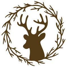Silhouette Design Store - View Design #156682: deer branch frame
