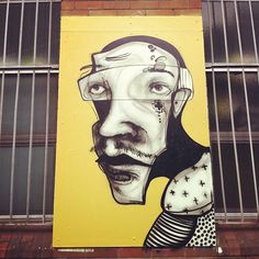Street art (Annandale, Sydney, Australia) by Ears [captainearwax] [aka Daniel O'Toole] Best Street Art, Amazing Street Art, Graffiti Murals, Street Art Graffiti, Collage Illustration, Illustrations, L'art Du Portrait, Painting Collage, Paintings