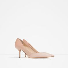 Image 2 of MID-HEEL LEATHER SHOES from Zara
