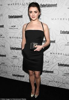 Maisie Williams showcases figure in mini dress at SAG nominees event #dailymail
