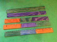#Åk3 mm cm dm noggrannhet färgsättning design gersåg är något vi övade på i slöjden