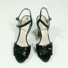 """⚡ Nine West 70s style Heels Were $35 Nine West Strappy sandal heels Size 7.5M True to size. I wear 8 and these are just a bit too small for me. Leather upper, the rest is manmade. Approx 4.5"""" heel. Cool 70s inspired shape but updated to modern comfort Good condition overall, soles show some wear. Very minor scuffs.  No trades. Nine West Shoes Heels"""