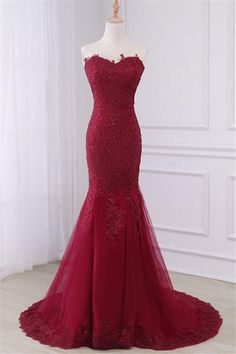 Long Prom Dresses, Lace Prom Dresses, Mermaid Party Prom Dresses, Sleeveless Evening Dresses, Prom Dresses with Court Train, Beading Prom Dresses Online The long promdresses are fully lined, 4 bones in the bodice, chest pad in the bust, lace up back or zipper back are all available, total 126 colors are available.Thi #prom #promdress #dress #eveningdress #evening #fashion #love #shopping #art #dress #women #mermaid #SEXY #SexyGirl #PromDresses
