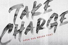 Take Charge - OpenTypeSVG Brush Font