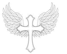 Angel Wings with Cross by FightTheAssimilation.deviantart.com on @deviantART