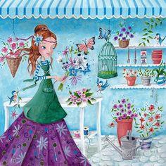 Flower Girl Painting by Caroline Bonne-Muller - Flower Girl Fine Art Prints and Posters for Sale