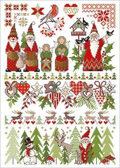 Stickvorlage Lindner's Kreuzstiche - Christmas World