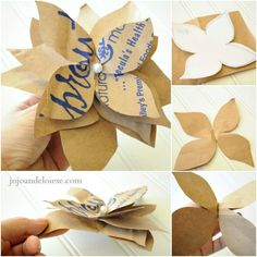 Five DIY Paper Bag Flowers. Eco-friendly and easy to make!