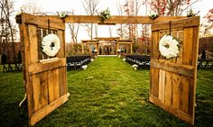 Great idea! Separate the space for the outdoor ceremony. This Venue is at Castleton Farms