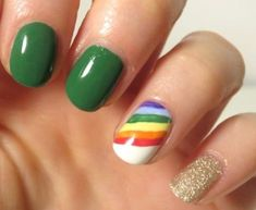 Patrick's Day Nail Art Looks You Need In Your Life - patricks day nails gel 10 St. Patrick's Day Nail Art Looks You Need In Your Life - St Patricks Day Nails, St. Patricks Day, Saint Patrick, Cute Nails, Pretty Nails, Coffin Nails, Acrylic Nails, Hair And Nails, My Nails