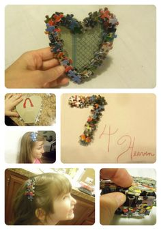 Feeding Nine on a Dime!: 3 Crafts To Make With Old Puzzle Pieces