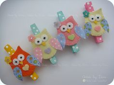 Home sweet home Owl Crafts, Craft Stick Crafts, Diy And Crafts, Crafts For Kids, Arts And Crafts, Owl Sewing, Baby Shower Favours, Owl Ornament, Felt Owls