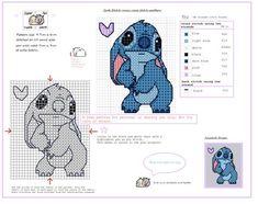 Cute stitch free cross stitch pattern by squirrelystitcher.deviantart.com on @DeviantArt