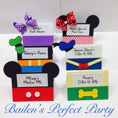 Mickey Mouse Clubhouse Food Labels/ Place by BailensPerfectParty