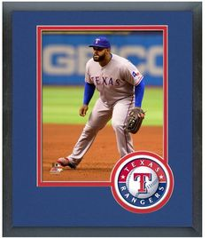 Prince Fielder 2014 Texas Rangers - 11 x 14 Team Logo Matted/Framed Photo