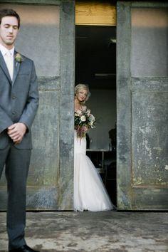 cute peeking at groom picture