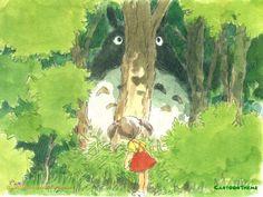 Studio Ghibli Art, Ghibli Movies, My Neighbor Totoro, Hayao Miyazaki, Cute Art, Les Oeuvres, Watercolor Art, Concept Art, Illustration