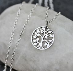 Sterling Silver Necklace, Tree of Life. $23.00, via Etsy.