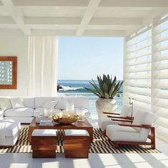 Polo Ralph Lauren Home Collection - Plants & Floral Styling by Sean McGowan Beach side home interior