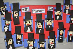 We have been very busy learning about a few President's in kindergarten! We made some Abe Lincoln art, painted American flags and wrote about George Washington. Here are some pictures to show you what we've been up to!
