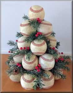 Baseball christmas tree Finest craft christmas tree mother concepts Plus Dimension Marriage c Diy Christmas Tree, Christmas Projects, Winter Christmas, Christmas Tree Decorations, Christmas Wreaths, Christmas Ideas For Mom, Outside Xmas Decorations, Themed Christmas Trees, Christmas Lights