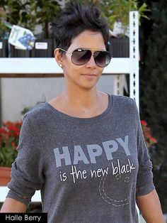 Halle Berry in Peace Love World, HAPPY is the new black!