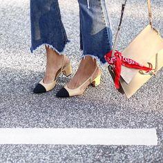block heel sling backs