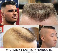 3 Ways to Wear Flat Top Haircuts Hard Part Haircut, Types Of Fade Haircut, Flat Top Haircut, Haircut Styles, Young Boy Haircuts, Haircuts Plus, Hairstyles Haircuts, Haircuts For Men, Popular Mens Haircuts