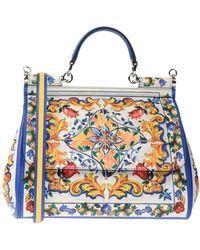 337138716d45 Dolce   Gabbana Miss Sicily Medium Handbag With Lemon and Roses ...
