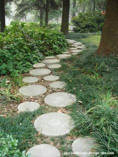 I have the round paving stones, now if only I had a large yard with trees...