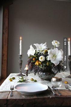 COLOR CONCEPT - white floral, orange accents (floral + kumquats), greenery, purple grapes