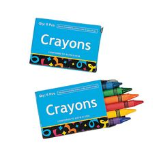 Making my list for shoebox treats Crayons - OrientalTrading.com 48 boxes of 6 each (I think) for $9.00