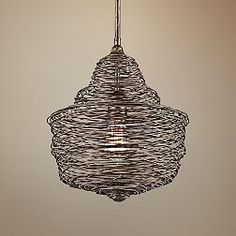 Shelter 12 1/2-Inch-W Revolution Bronze Pendant Light