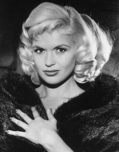 Jayne Mansfield (4/19/33 - 6/29/67) American actress in film, theatre, and television, a nightclub entertainer, a singer, and one of the early Playboy Playmates. She was a major Hollywood sex symbol of the 1950s and early 1960s.