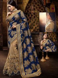Look gorgeous wearing this simple yet so elegant Indian women saree. This heavy saree has been made for Bridal wear. This bridal saree has embroidered work across to give it a heavy look. Trendy Sarees, Stylish Sarees, Fancy Sarees, Asian Wedding Dress, Saree Wedding, Bridal Sarees, Wedding Vows, Wedding Blog, Indian Attire