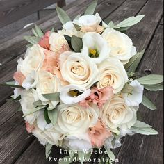Brautstrauß von Inna Wiebe - Eventdekoration  www.innawiebe.com #rose #lisianthus #olivenzweige #roses #brautstrauß #braut #hochzeit #wedding #bridalbouquet #bride #munich #münchen #blumendekoration #blumenstrauss #blumen #tegernsee #innawiebe_com #innawiebe