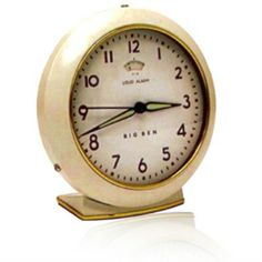 BIG BEN  Model Number 47617    - Classic 1949 Big Ben Design (Ivory)  - Metal Case with Glass lens  - Quartz Accuracy  - Luminous Hands