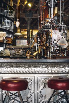 Steampunk inspired coffee shop in Cape Town, South Africa #Design #Interior #Industrial #Steampunk