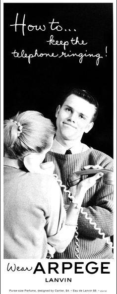 1960 Lanvin Arpege perfume ad