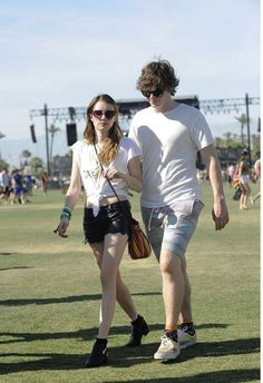 Emma Roberts & Evan Peters at Coachella