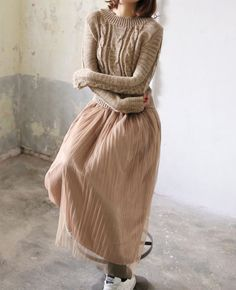 Sweater Pleated Maxi Dress Pleated Maxi, Tulle, Skirts, Sweaters, Dresses, Fashion, Vestidos, Moda, Skirt