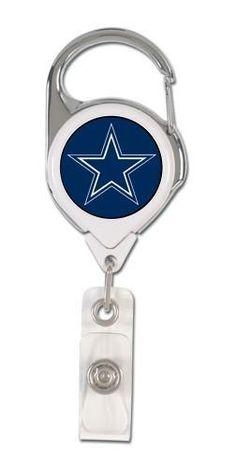 Dallas Cowboys Badge Holder Premium Retractable