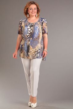 Костюм брючный Djerza 2139 Plus Dresses, Elegant Dresses, Curvy Outfits, Plus Size Outfits, Iranian Women Fashion, Womens Fashion, Mix Match Outfits, Modelos Plus Size, Pretty Outfits