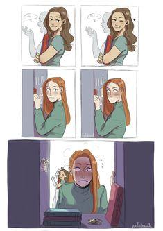 No mortal blade can kill me — i updated my sansaery highschool au sansa is. Cute Lesbian Couples, Lesbian Art, Gay Art, Gay Comics, Cute Comics, Gay Lindo, Lgbt Memes, Poses References, Mini Comic