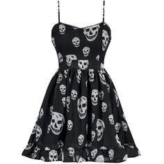 Miss Poison Skull Chiffon Dress ❤ liked on Polyvore featuring dresses, skull dress, skull print dress and chiffon dress