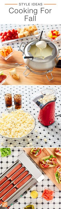 Get excited for the big game with a gourmet hotdog bar, an impressive fondue pot, or make the night even cozier with a fun hot-air popcorn maker. Click to shop more kitchen appliances here.
