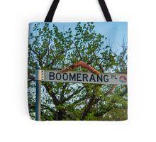 Boomerang Place Sign in Heathcote, Victoria Tote Bag